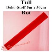 Tüll Deko-Stoff, Rot, 5 Meter x 50 cm