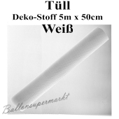 Tüll Deko-Stoff, Weiß, 5 Meter x 50 cm