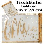 Tischläufer, Tischdecke Artistiques Gold, 5 Meter Rolle
