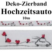 Deko-Zierband Hochzeitsauto,10 m