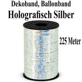 Zierband, Luftballonband, Silber, holografisch