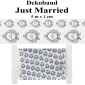 Deko-Zierband Just Married, 5 m