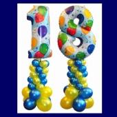 Dekoration aus Luftballons zum 18. Geburtstag