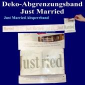 Dekoration-Hochzeit-Absperrband-Hochzeitsgelaende-Just-Married