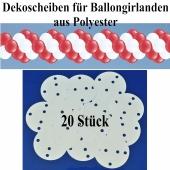 Dekoscheiben aus Polyester für Ballongirlanden, 20 Stück