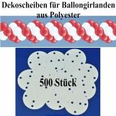 Dekoscheiben aus Polyester für Ballongirlanden, 500 Stück