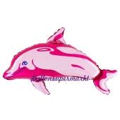 Delfin Luftballon ohne Helium, rosa