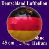 Deutschland Luftballon, Folienballon 45 cm mit den Deutschlandfarben