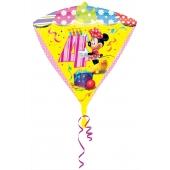 Diamonz Luftballon aus Folie Minnie Mouse zum 4. Geburtstag