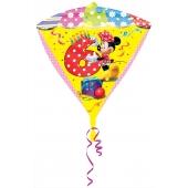 Diamonz Luftballon aus Folie Minnie Mouse zum 6. Geburtstag