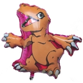 Digimon Luftballons aus Folie, Pink, Agumon, inklusive Ballongas Helium