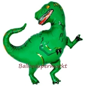 Dinosaurier Luftballon ohne Helium, grün