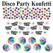 Disco Party, Mottoparty 70er Jahre, Konfetti, Partydekoration