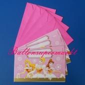 Disney Prinzessinnen Einladungskarten zum Kindergeburtstag