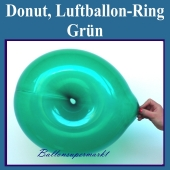 Ring-Luftballon, grün, Ringballon, Latexballon in Ringform zur Ballondekoration