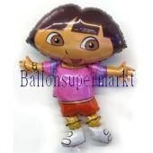 Dora Luftballon aus Folie inklusive Helium