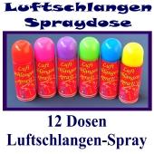 12 Dosen Luftschlangen-Spray