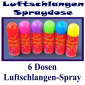 Luftschlangen-Spray 6 Dosen