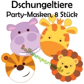 Party Masken Dschungeltiere