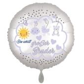 Du wirst großer Bruder, Luftballon aus Folie, 43 cm, Satine de Luxe, weiß