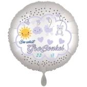 Du wirst Großonkel, Luftballon aus Folie, 43 cm, Satine de Luxe, weiß