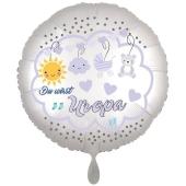 Du wirst Uropa, Luftballon aus Folie, 43 cm, Satine de Luxe, weiß