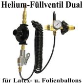 Duales Helium-Füllventil mit Schlauch für Latexballons und Folienballons