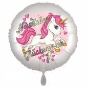 Einhorn Luftballon zum 1. Geburtstag