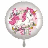Einhorn Luftballon zum 10. Geburtstag