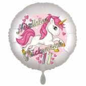 Einhorn Luftballon zum 11. Geburtstag