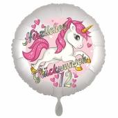 Einhorn Luftballon zum 12. Geburtstag