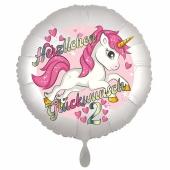 Einhorn Luftballon zum 2. Geburtstag