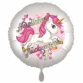 Einhorn Luftballon zum 4. Geburtstag