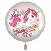 Einhorn Luftballon zum 5. Geburtstag
