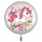 Einhorn Luftballon zum 6. Geburtstag