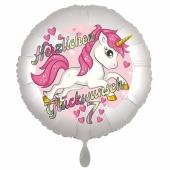 Einhorn Luftballon zum 7. Geburtstag