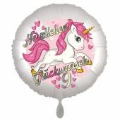 Einhorn Luftballon zum 9. Geburtstag