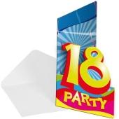 Einladungskarten zum 18. Geburtstag