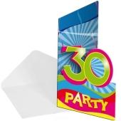 Einladungskarten zum 30. Geburtstag
