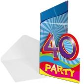 Einladungskarten zum 40. Geburtstag