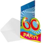 Einladungskarten zum 60. Geburtstag
