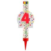 Eisfontäne Zahl 4, Dekoration zu Jubiläum und Geburtstag