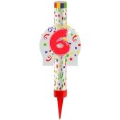 Eisfontäne Zahl 6, Dekoration zu Jubiläum und Geburtstag