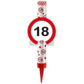 Eisfontäne Verkehrsschild 18, Dekoration zum 18. Jubiläum und Geburtstag
