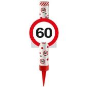 Eisfontäne Verkehrsschild 60, Dekoration zum 60. Jubiläum und Geburtstag