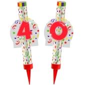 Eisfontänen Zahl 40, Dekoration zu Jubiläum und Geburtstag