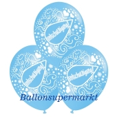Motiv-Luftballons Entschuldigung, hellblau, himmelblau, 3 Stueck