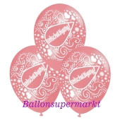 Motiv-Luftballons Entschuldigung, rosa, 3 Stueck