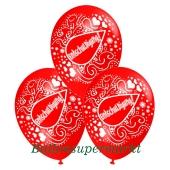 Motiv-Luftballons Entschuldigung, rot, 3 Stueck