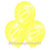Motiv-Luftballons Entschuldigung, zitronengelb, 3 Stueck